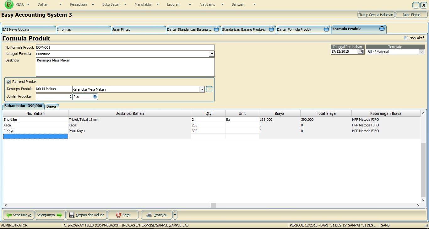 Software Akuntansi Manufaktur