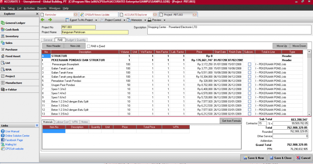 Software Akuntansi Kontraktor