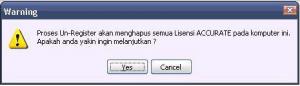 Un-register ACCURATE 5.1