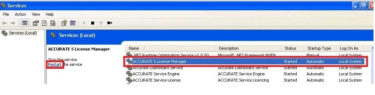 ACCURATE Tidak Terhubung Dengan License Manager