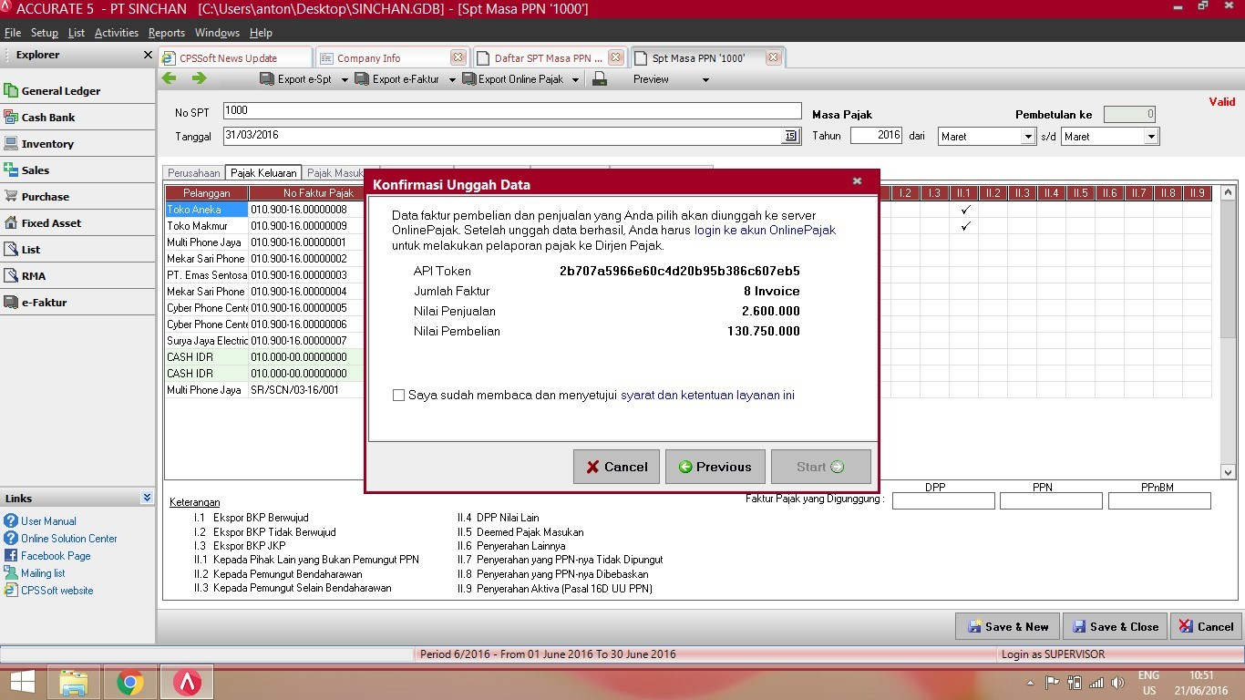 Fitur Export Online Pajak di ACCURATE Accounting Software 2