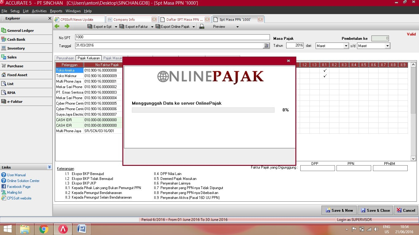 Fitur Export Online Pajak di ACCURATE Accounting Software 4