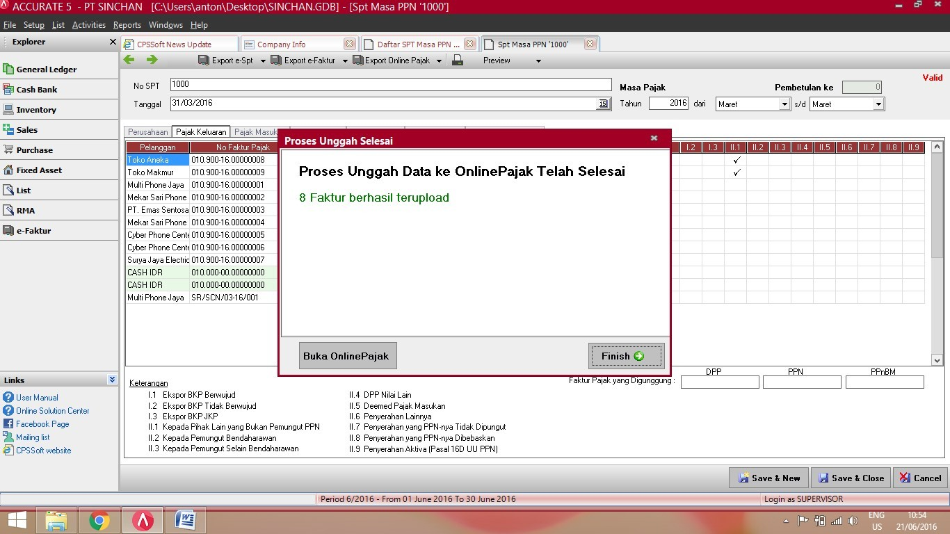 Fitur Export Online Pajak di ACCURATE Accounting Software 5