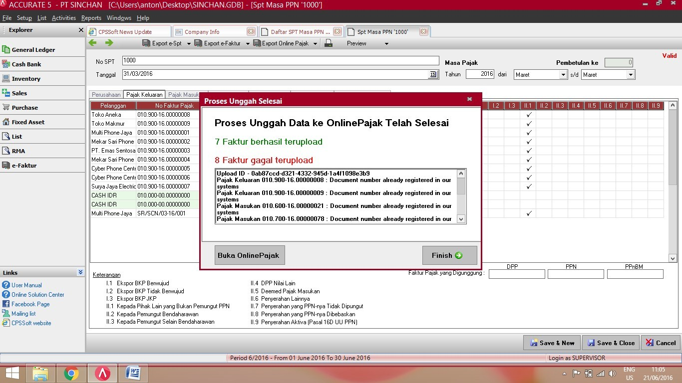 Fitur Export Online Pajak di ACCURATE Accounting Software 6